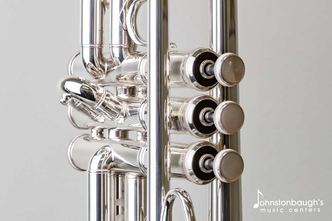 Close-up Valve Detail 1 of Bach TR200s Trumpet from Johnstonbaugh's Music Centers in Western PA