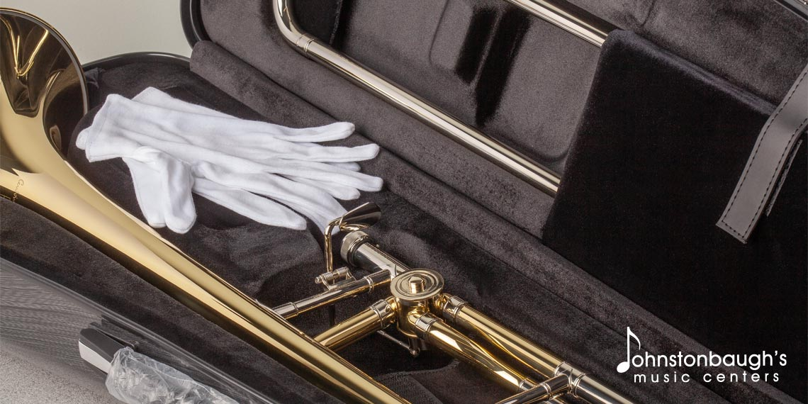 Detailed Feature Image of Courtois Trombone from Johnstonbaugh's Music Centers in Western PA