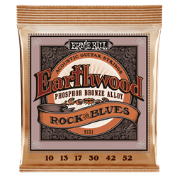 16011451 Ernie Ball 2151 Earthwood Phosphor Bronze Rock & Blues Acoustic Guitar Strings