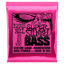 2834 Ernie Ball Super Slinky Nickel Wound Electric Bass Strings, 45-100